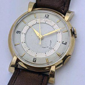 LeCoultre Mod 489 Gold Fill Wrist Alarm Mens Watch